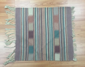 2' x 2' Square Native American Navajo Rug - Hand Made - 100% Wool