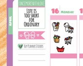Munchkins - Grocery Shopping To Buy Planner Stickers (M39)