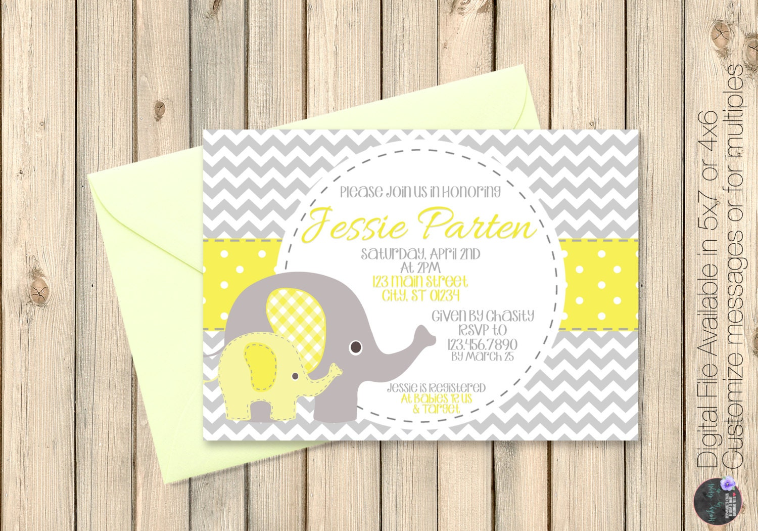 yellow and grey baby shower invitation grey and yellow baby