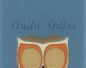 Retro OWL print, by Studio-Stillae. Instant download!