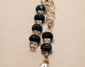 Blue Bling Cell Phone Charm