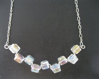 Crystal Cube Statement Necklace