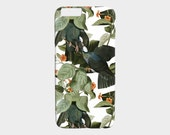 iPhone 6 Case iPhone 6S Case iPhone Case iPhone 5 Case Vintage Tropical Leaves and Birds Samsung Galaxy S7 Case Phone Case