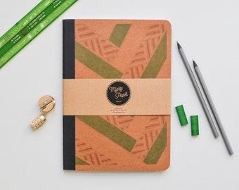 Plain Kraft Paper Sketchbook, Recycling Notebook, bound blank plain jotter B5