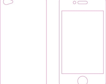 Iphone 4 or 4s Skin template for cutting or machining - Digital Download