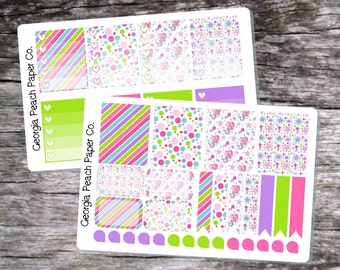 Mermaid Themed Planner Stickers - Made to fit Vertical Layout