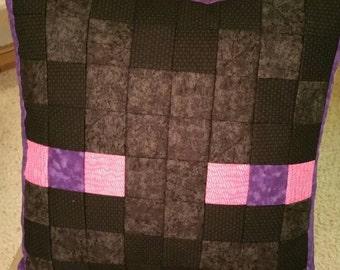 Enderman Head Pixel Pillow Cover