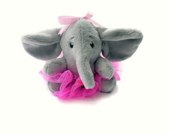 Ballerina Elephant.Elephant Ballerina Buddy. Plush toy elephant. Handmade elephant. Stuffed elephant toy