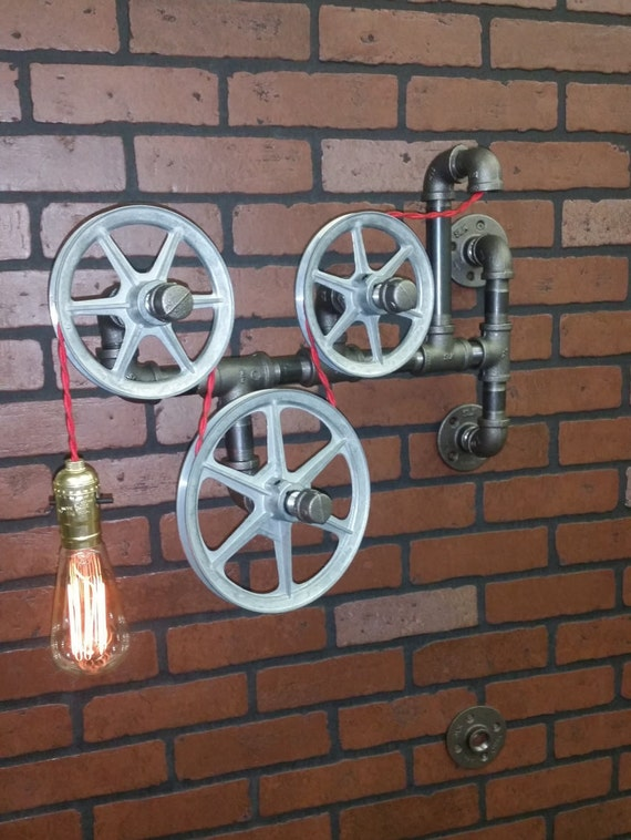 Bathroom Wall Light Industrial Vanity Light Brass Light  Etsy