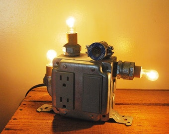 industrial bedside table lamp / night light