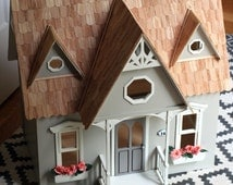 Dollhouse, Miniature House, Wooden Dollhouse, Fairy, Cottage, Playhouse, Small Scale, Rose Briar Cottage,