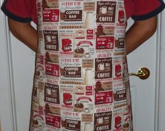 Adult kitchen apron Model Coffee Bar
