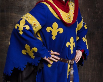 Heraldic medieval gown, Europe 14th century