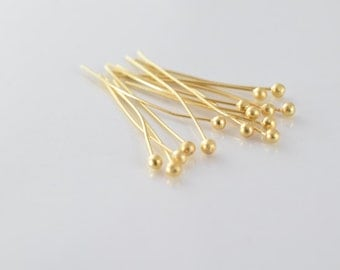 """1"""" Inch Round Head Pin Gold Filled 14k 25mm thickness 1mm GF6003"""