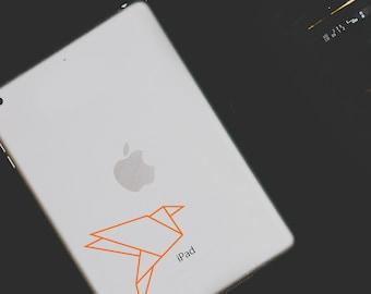 Macbook Sticker Origami Bird Decal Laptop Sticker Car Decal Japanese Folded Bird Sticker Flying • Personalized Vinyl Art • Fuzzyshark Design