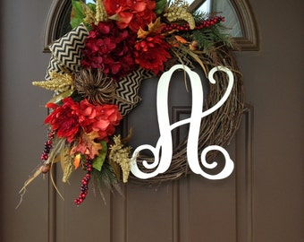 BEST SELLING Pumpkin Fall Wreath for Front Door - Wreath - Hydrangea Wreath - Wreaths for Front Door - Front Door Decor -Fall Wreath
