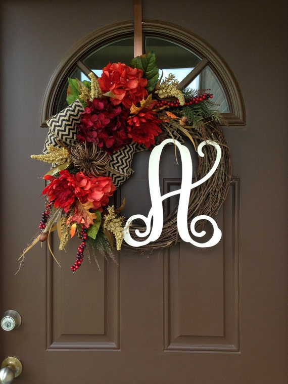 Fall Wreaths For Front Door Wreath Hydrangea Wreath