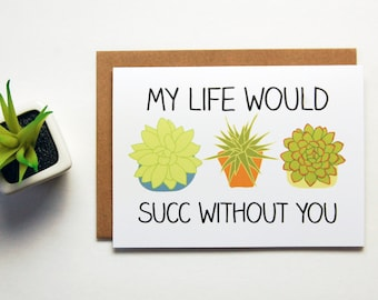 My Life Would Suck Without You Greeting Card, Boyfriend Gift, Long Distance Relationship, Long Distance Boyfriend,  LDR Cards, Greeting Card