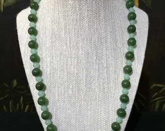 22'' Jade Bead Necklace.
