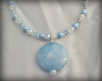 Baby-Blue Eyes Necklace