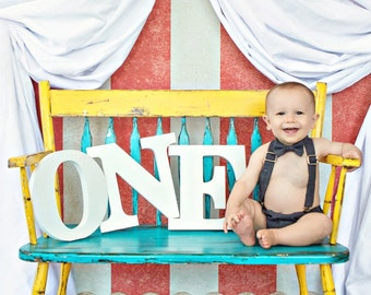 ONE Sign for First Birthday Decor, Freestanding Letters for 1st Birthday, One Sign Cake Smash Party Decor for Baby Toddler (Item - ONE200)