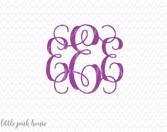 Vine Monogram Svg, Monogram Fonts, svgs fonts, monogram fonts svg, svgs for cricut, silhouette files, silhouette cameo, instant download