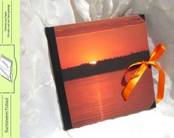 Diary notebook sunset