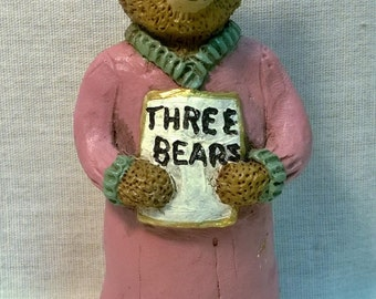 "Handpainted ""Bedtime Story"" Bear"