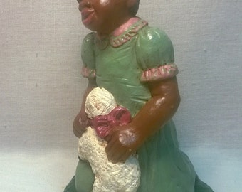 "Handpainted ""Girl with Lamb"" Figurine"