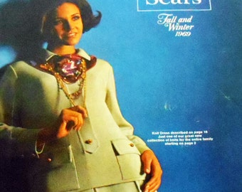 Sears Fall and Winter 1969 Catalog,Vintage 60s Sears,Vintage 1960s Fashion Ads,Mid Century Sears Book,Mad Men Fashion Ads,Mod Sixties