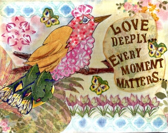 Mixed Media ~Love Deeply Print