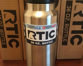 Custom Etched 36oz RTIC Bottle