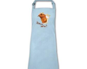 Robin Who? apron