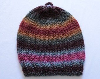 Neutral Stripe Knitted Hat