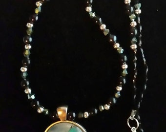 Beaded necklace with Dragon pendant