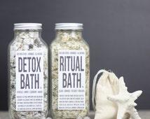 Detox Bath Salts, Charcoal Bath Salts, Coconut Milk Bath, Fir Needle Bath Soak, Ritual Bath Soak, Men's Bath Salt, Oatmeal Detoxifying Bath