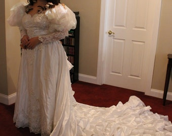 Labyrinth Inspired Wedding Gown