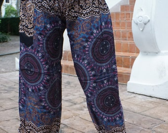Hippie pants hobo pants harem pants cozy pants brown-gray