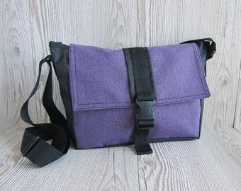 Purple crossbody bag Small messenger bag Hipster bag Purple cross body bag Shoulder purse