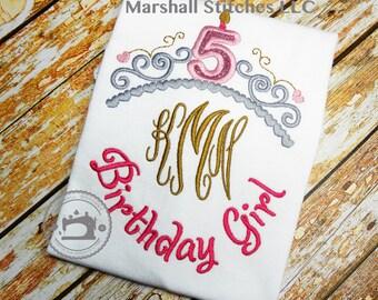 Princess Birthday Shirt/ Monogramed Princess Shirt/ Princess Birthday/ Personalized Princess Birthday Shirt
