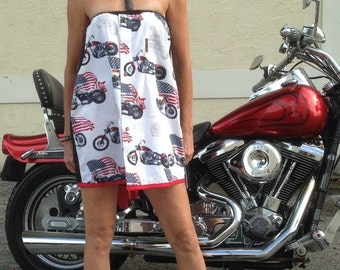 Harley Davidson Motorcycle Retro 50's Skirt Mini Dress Chopper Skirt Mini Dress