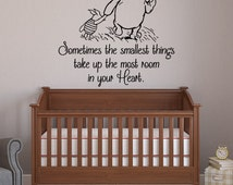 Sometimes The Smallest Things Classic Winnie The Pooh Wall Decal Quote- Winnie The Pooh Vinyl Wall Decals Nursery Kids Baby Room Decor 031