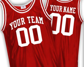 Custom Basketball Jerseys - Old School - includes Team Name, Player Name and Player Number.