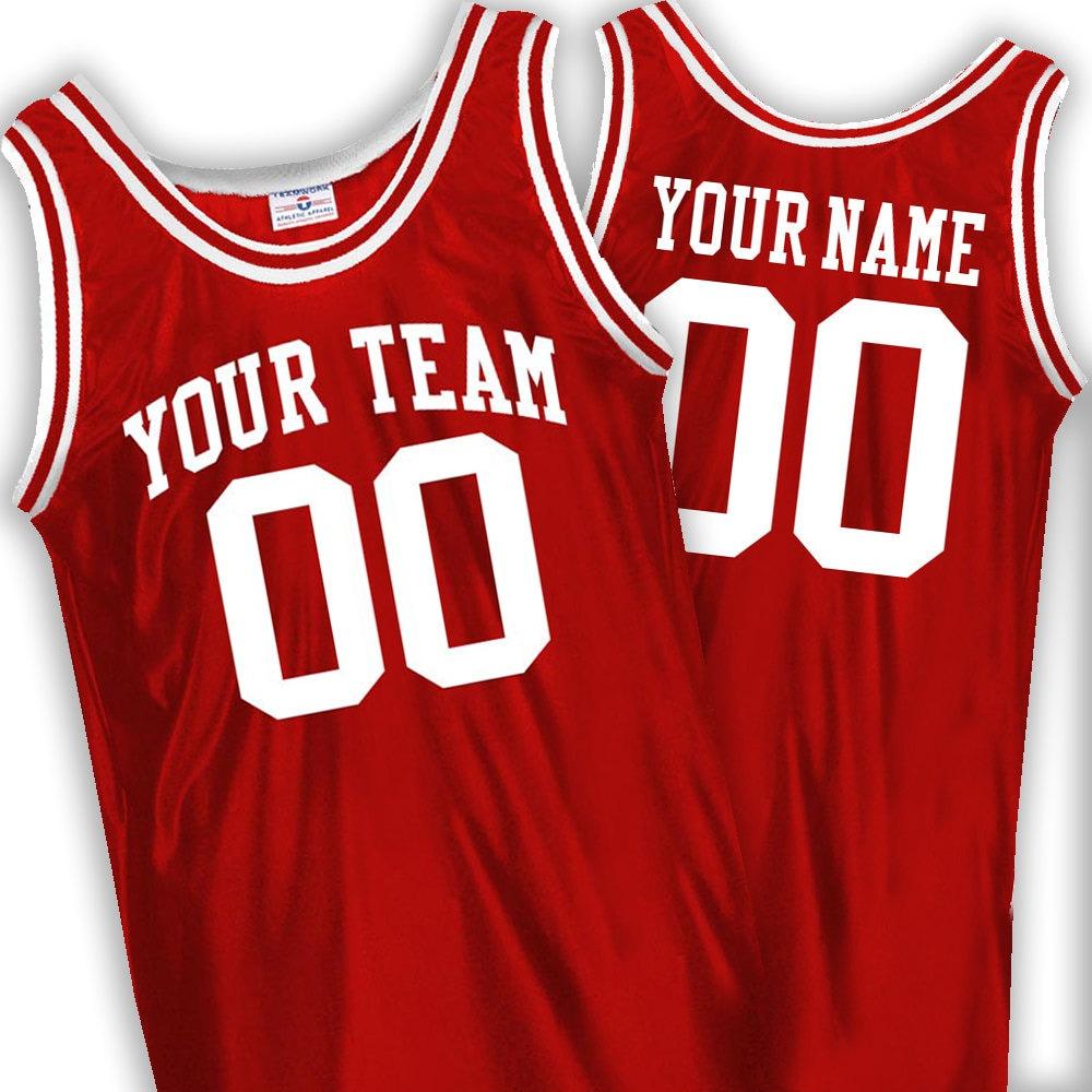 Custom Basketball Jerseys Old School includes Team Name