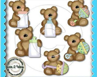 Fluffy Baby Bears, Clipart, Bears, Baby
