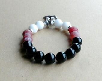 Opaque gems semi precious stones bracelet