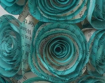 "11"" Round Teal Book Page Wreath"