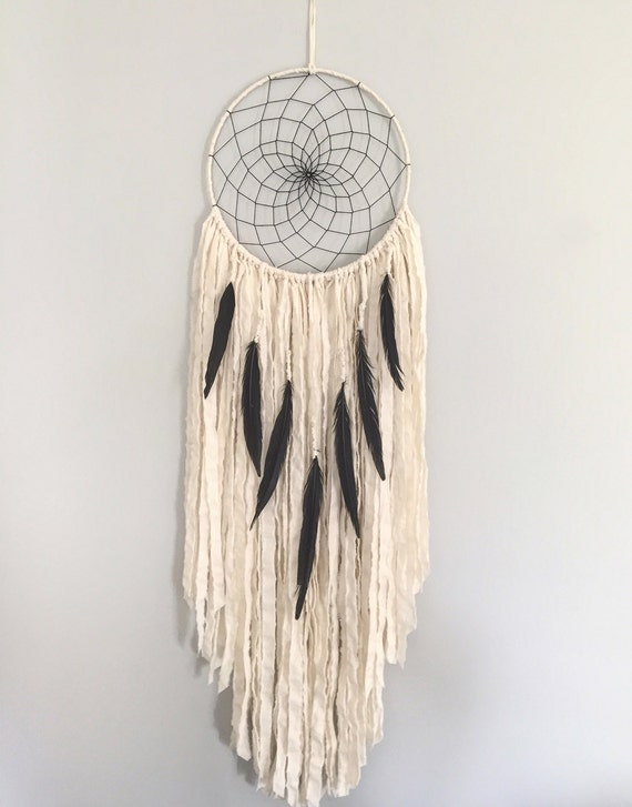 Large Dream Catcher Large White Dream Catcher With Black