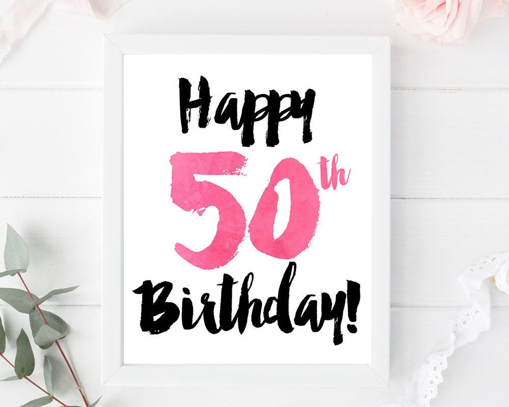 This is a photo of Obsessed Free Printable 50th Birthday Cards