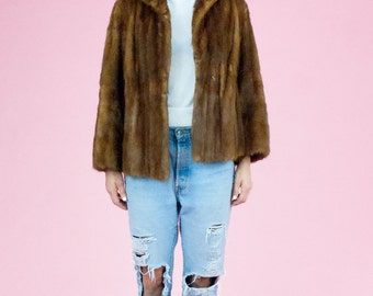 Caramel Short Mink Jacket